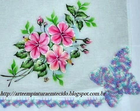 Pintura Em Tecido E Croche Borboleta Pittura Su Tessuto Pittura Su Stoffa Stoffe