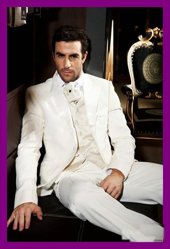 Ivory Wedding Tuxedos for Groom | ... Linen HOT Groom Tuxedos ...