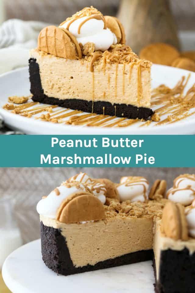 No-Bake Peanut Butter Marshmallow Pie