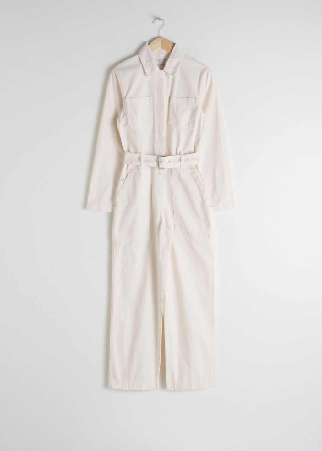 d6ba73eddd3 Belted Workwear Boilersuit - Cream - Jumpsuits   Playsuits -   Other Stories