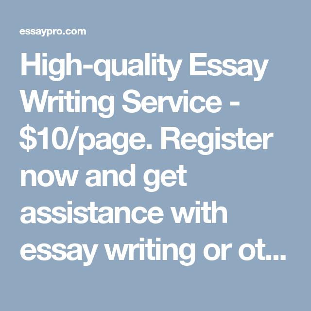 Writing service $10
