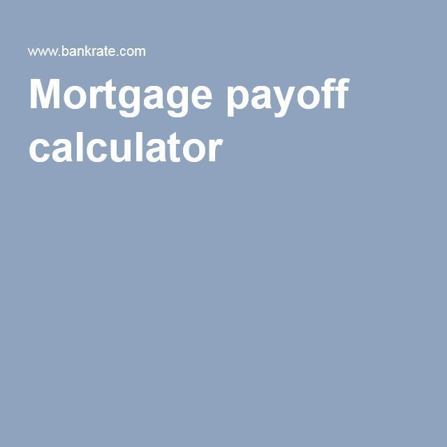 Mortgage payoff calculator Mortgage Tips Pinterest