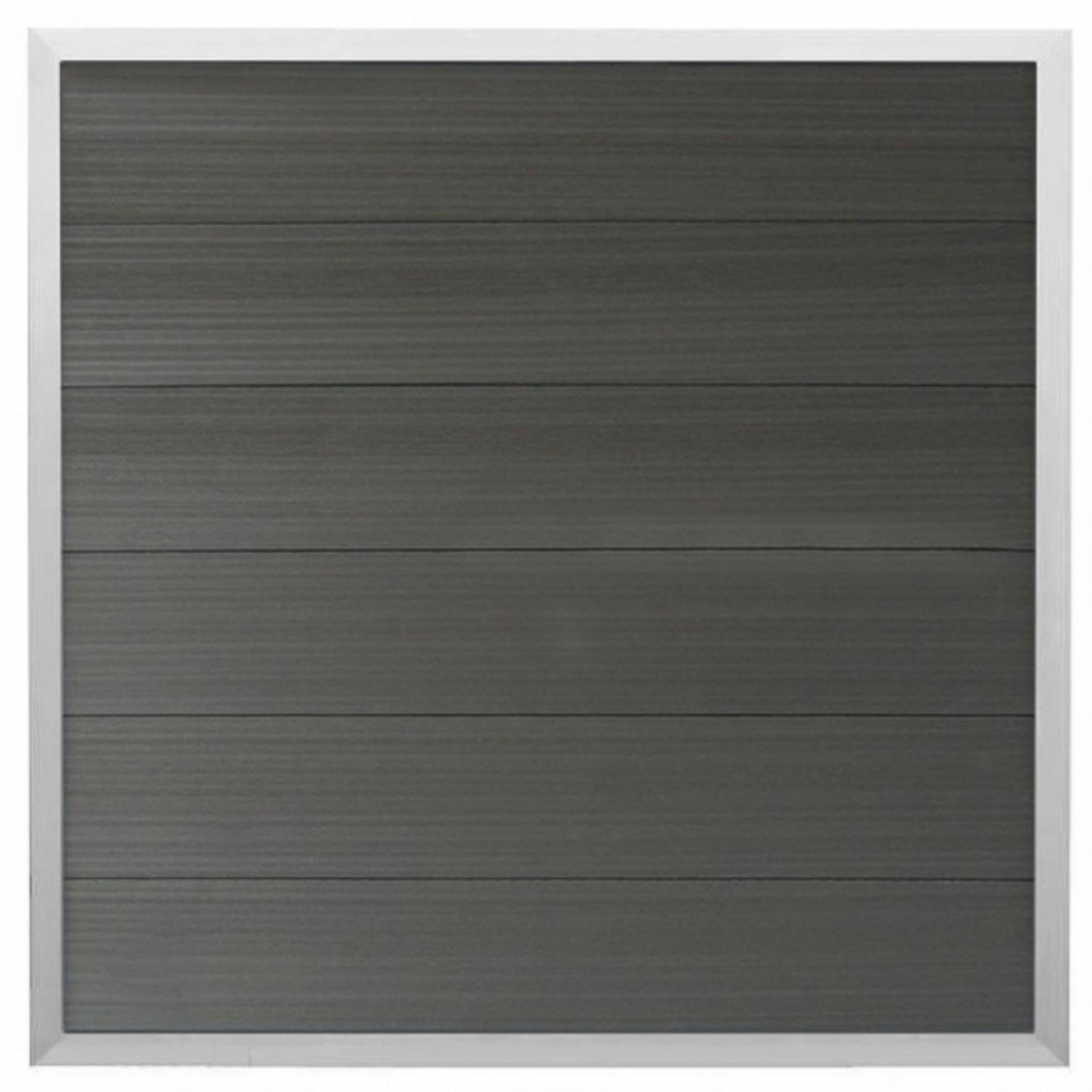 WPC Zaun Fehmarn (Forte) 180x180 cm, anthrazit/silber