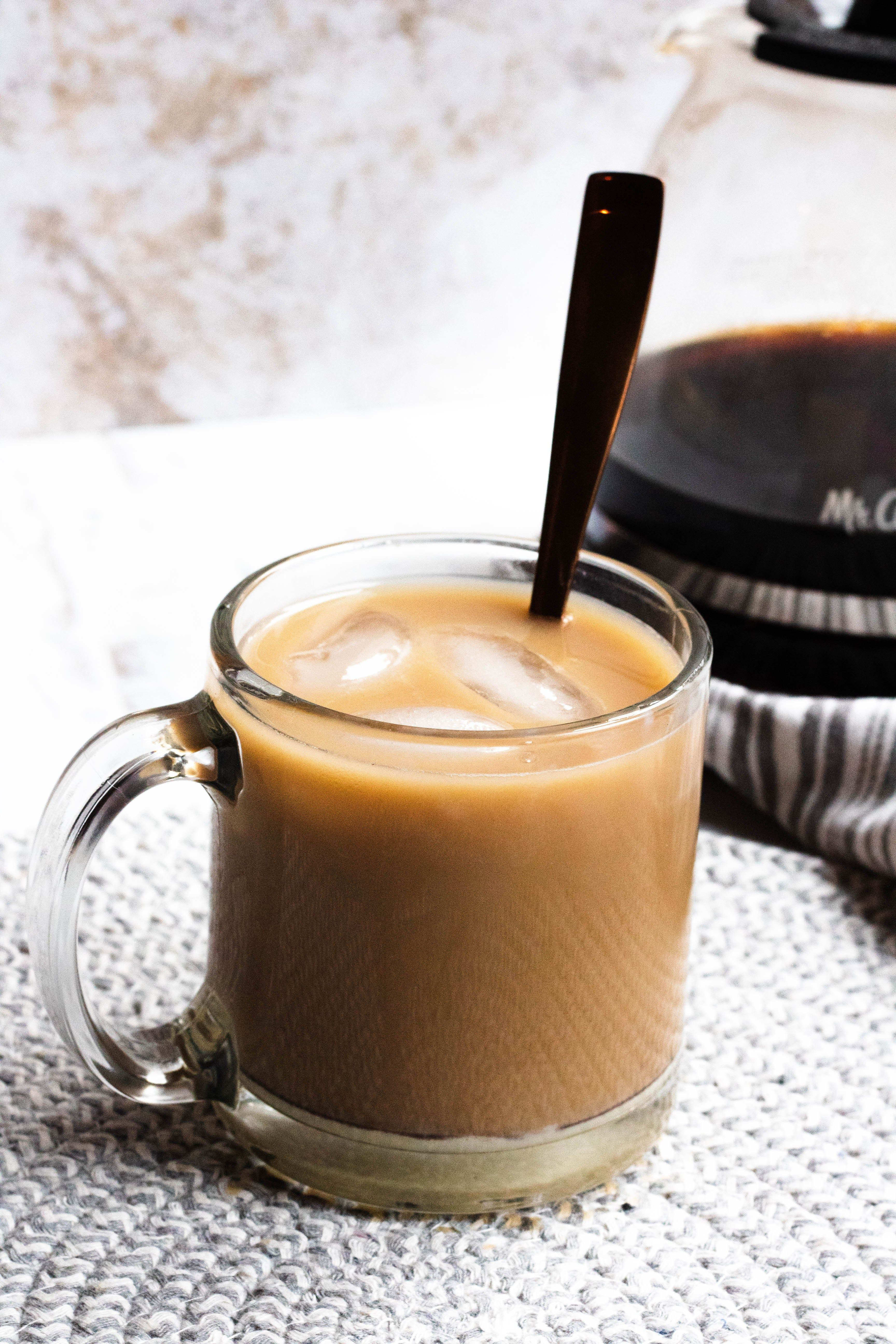 Iced Coffee Recipe With Sweetened Condensed Milk The Foreign Fork Recipe In 2020 Ice Coffee Recipe Coffee Recipes Condensed Milk Recipes