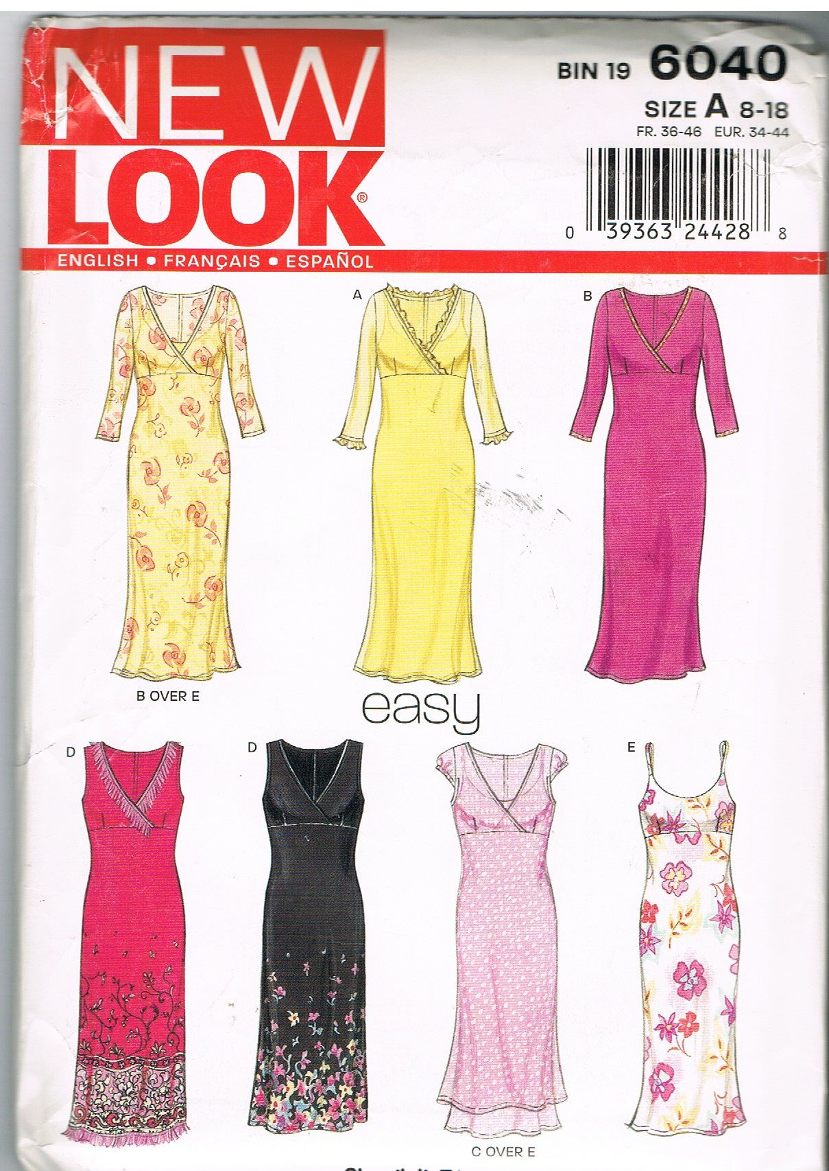New Look 6040 Easy Dresses Size A 8-18 by CraftiqueRedux on Etsy ...