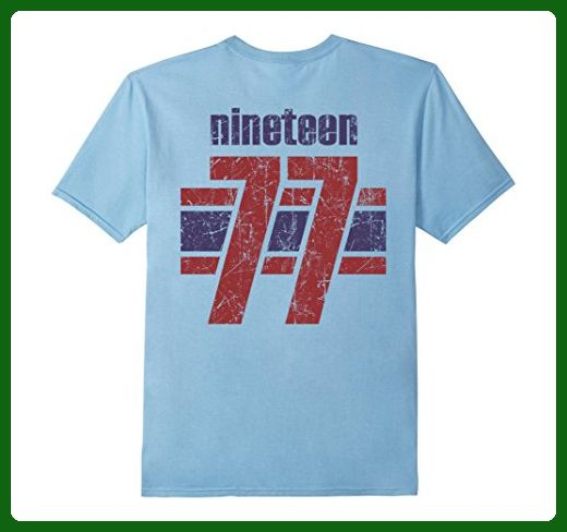 Mens 40th Birthday Vintage 1977 T Shirt Gift For 40 Years Old 2XL Baby Blue