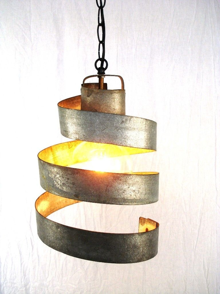 Custom Made Wine Barrel Ring Hanging Pendant Light Large Open
