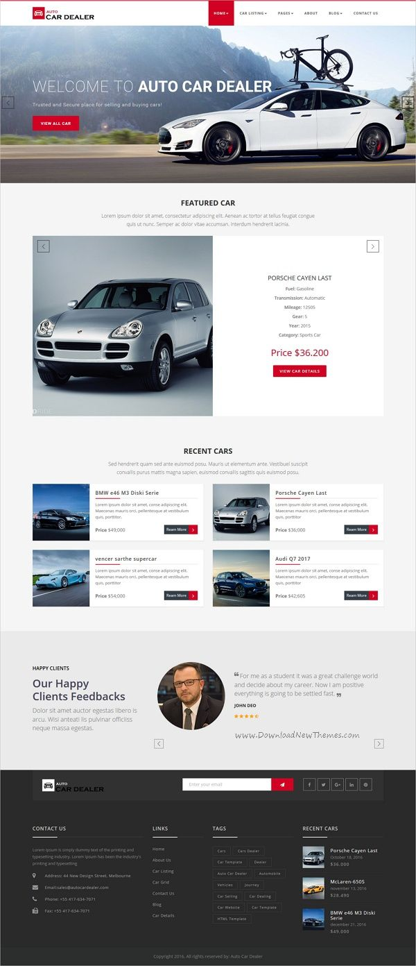 Auto car dealer car dealer html template