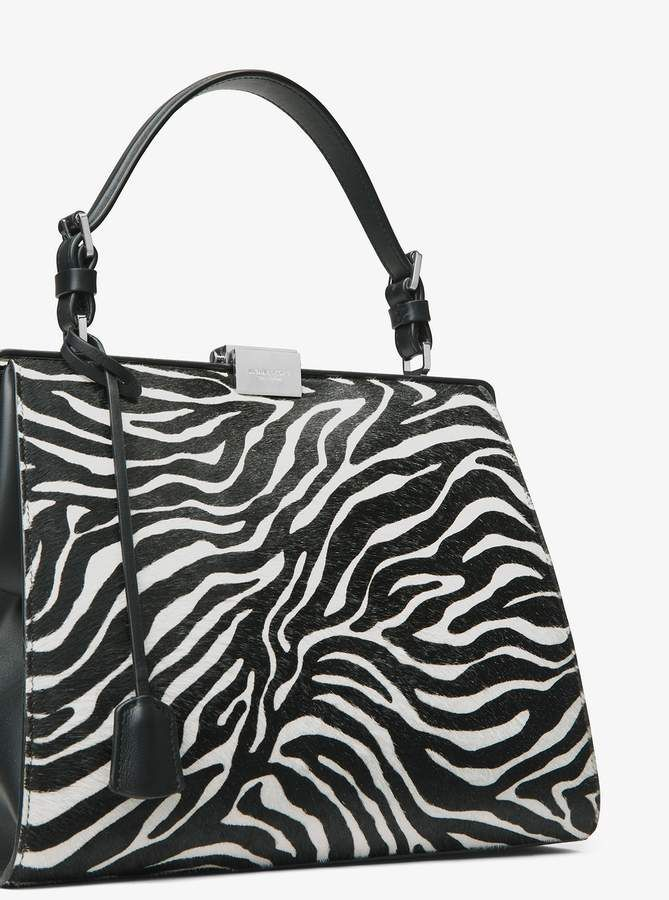 2c56757c148fd4 Michael Kors Simone Zebra Calf Hair Top-Handle Bag | Zebra Print ...