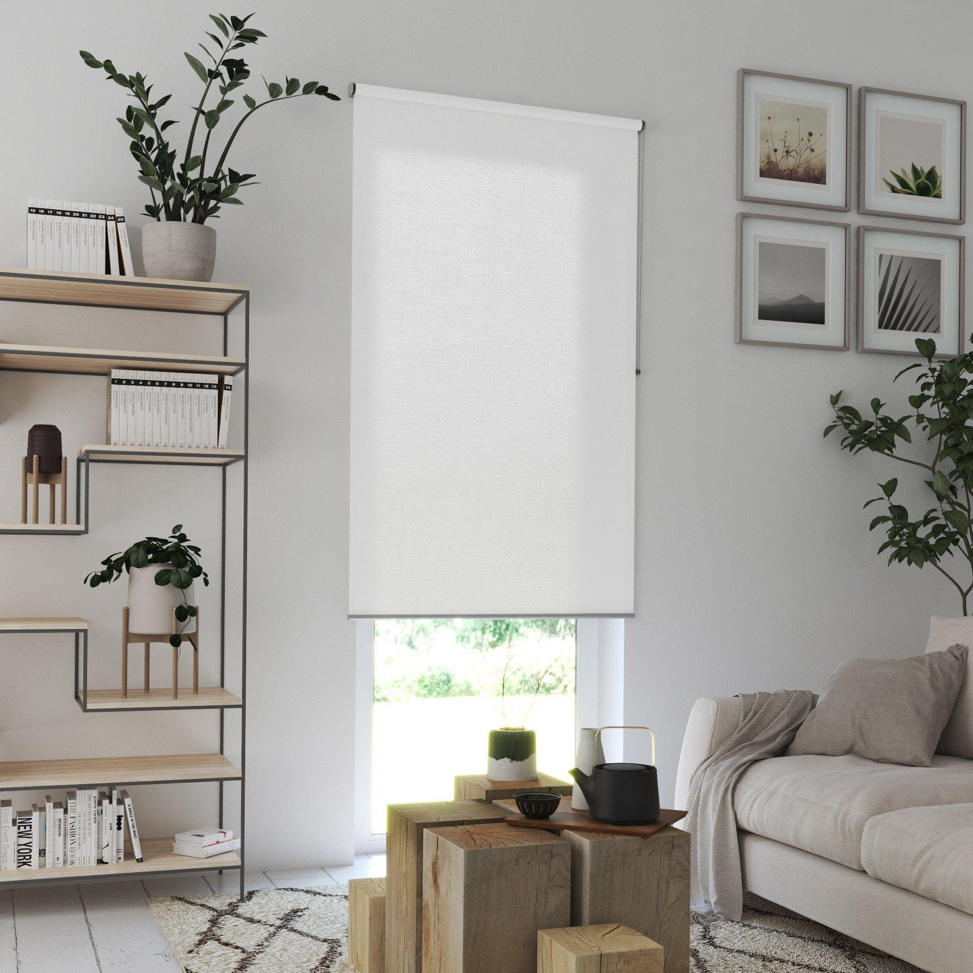 Store Enrouleur Tamisant Blanc L 105 X 250 Cm Store Enrouleur Stores Et Store Enrouleur Jour Nuit