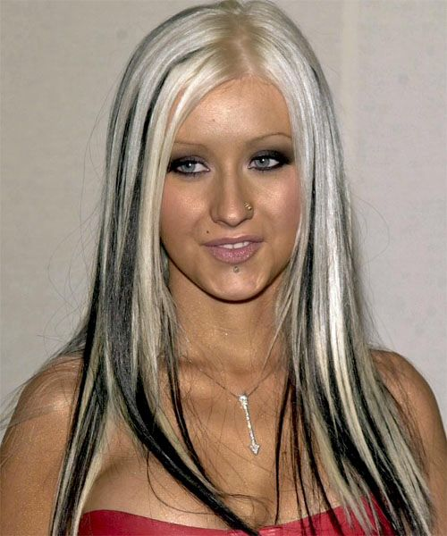 Christina Aguilera Christina Aguilera Hair Hair Color For Black Hair Black Hair With Blonde Highlights
