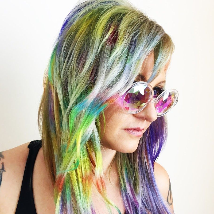 How to make holographic hair that glows in the dark lox for how to make holographic hair that glows in the dark lox for lights application pmusecretfo Choice Image