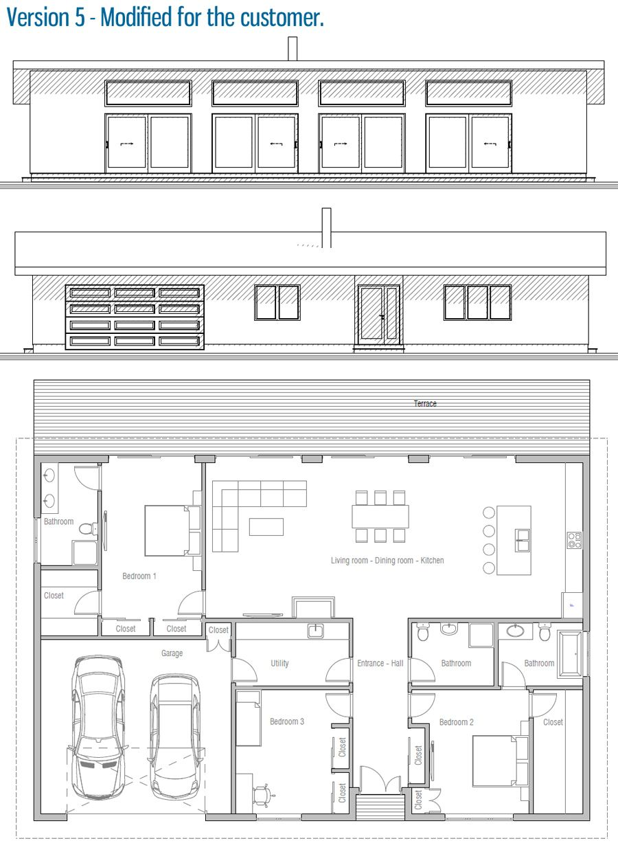 House Design Home Plan Ch432 44 Haus Haus Grundriss
