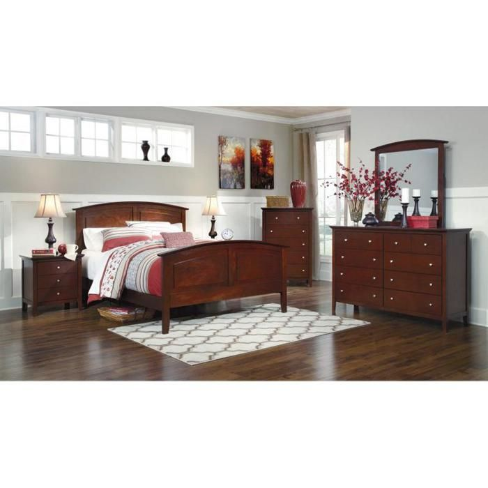 Colestead 4-Piece Queen Bedroom Set in Cherry | Nebraska Furniture ...