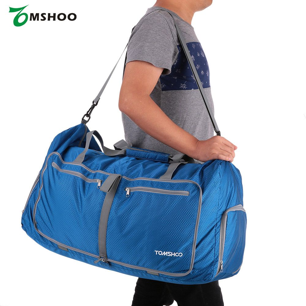 TOMSHOO Waterproof Polyester Men Women Gym Bags Large Capacity 80L ... 0c799df53fa69