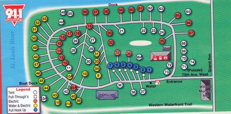 Indian Point Campground Duluth Campground Map Duluth Camping Duluth Campground