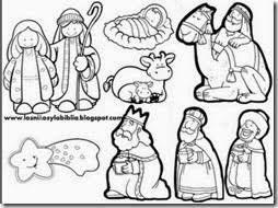 Resultado De Imagen Para Nacimiento De Jesus Para Recortar Y Armar Nacimiento Para Colorear Pesebres Para Colorear Personajes De Navidad