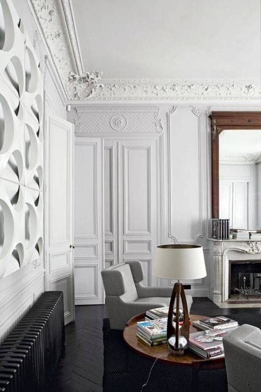 Best Painted Wall Moulding Ideas Modern French Interiors