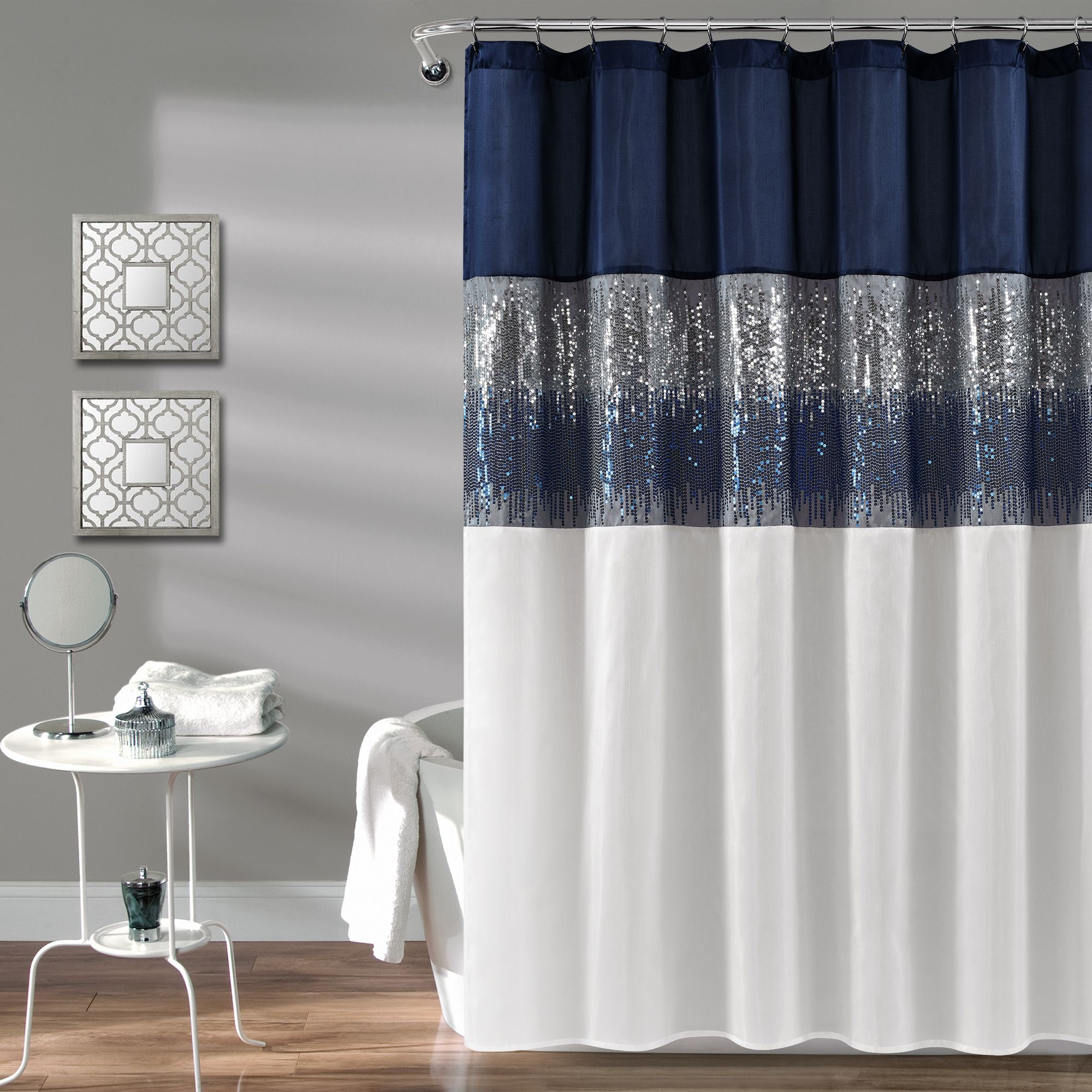 Night Sky Shower Curtain In 2020 Black Curtains Fabric Shower