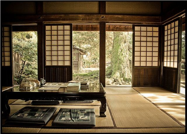 I will use these images I have found on Japanese Interiors to create the inside of the Tea house. A lot of rooms seem to have very low tea tables with cushions around for people to sit on. Rugs are…