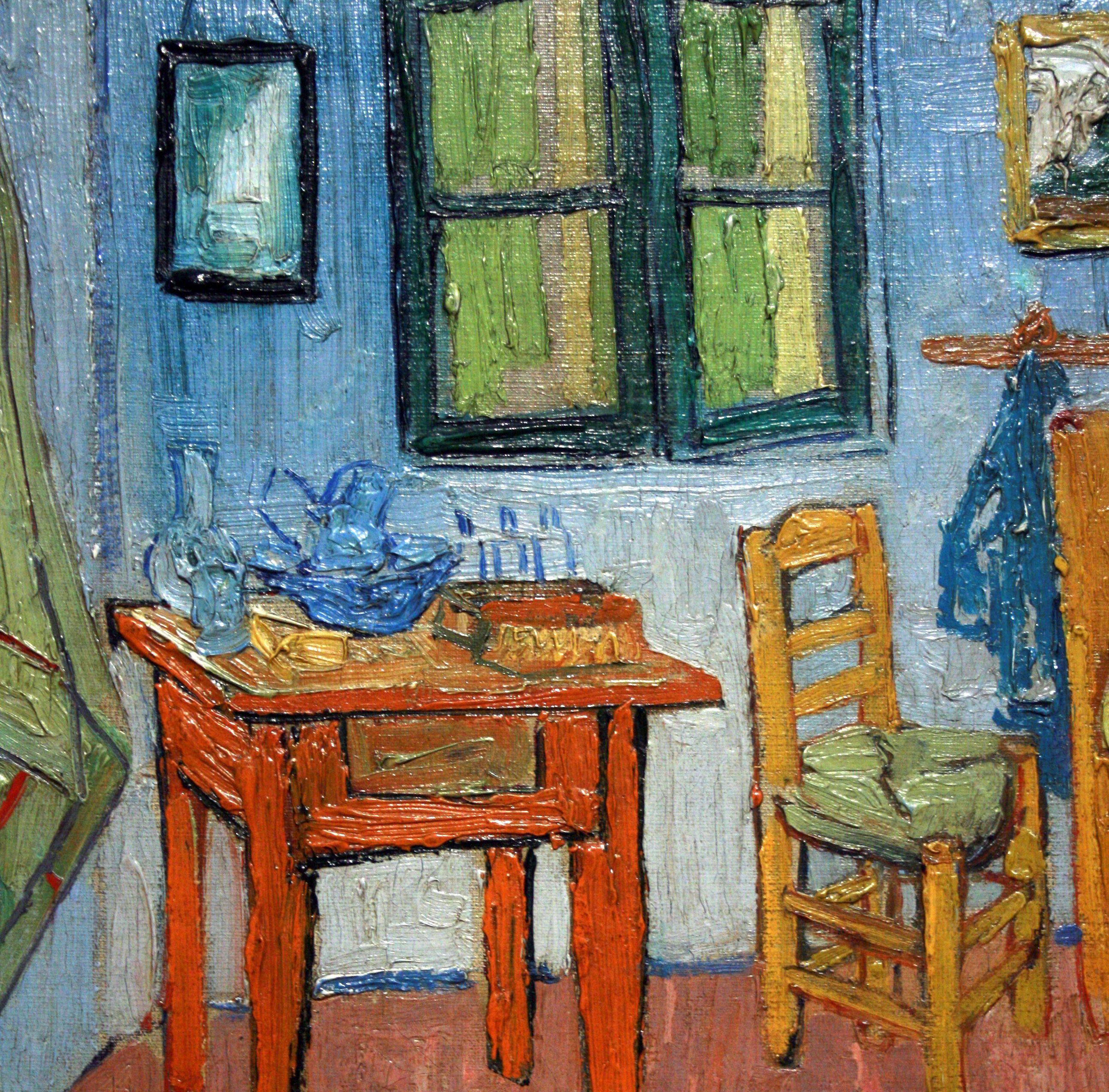 De slaapkamer\', 28%detail, Vincent van Gogh, | Vincent Van Gogh ...
