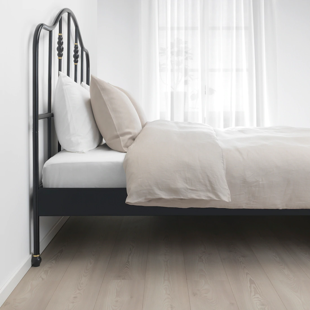 SAGSTUA Bed frame, black, Full IKEA in 2020 Bed frame