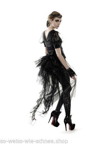 Punk-Rave-Gothic-Rock-Guertel-Tornuere-Steampunk-Victorian-Belt-Tulle-Skirt-Q287