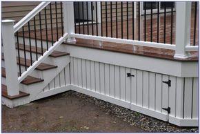 Super Deck Design Cool Deck Skirting Ideas For Every Home Yard Under Deck Skirting Ideas Inexpensive Deck Deck Skirting Porch Underpinning Modern Porch