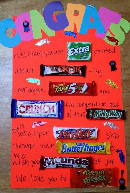 Graduation Candy Bar Poem