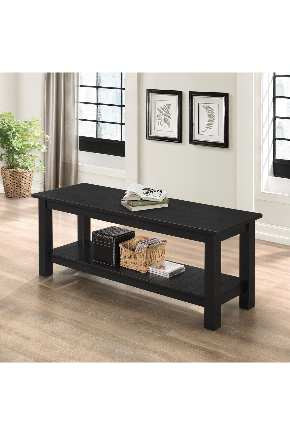 Walker Edison Furniture Company 50'' Country Style Black