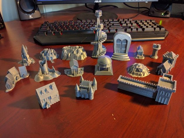 Talisman Board Game 3D Terrain Pieces by Talismods