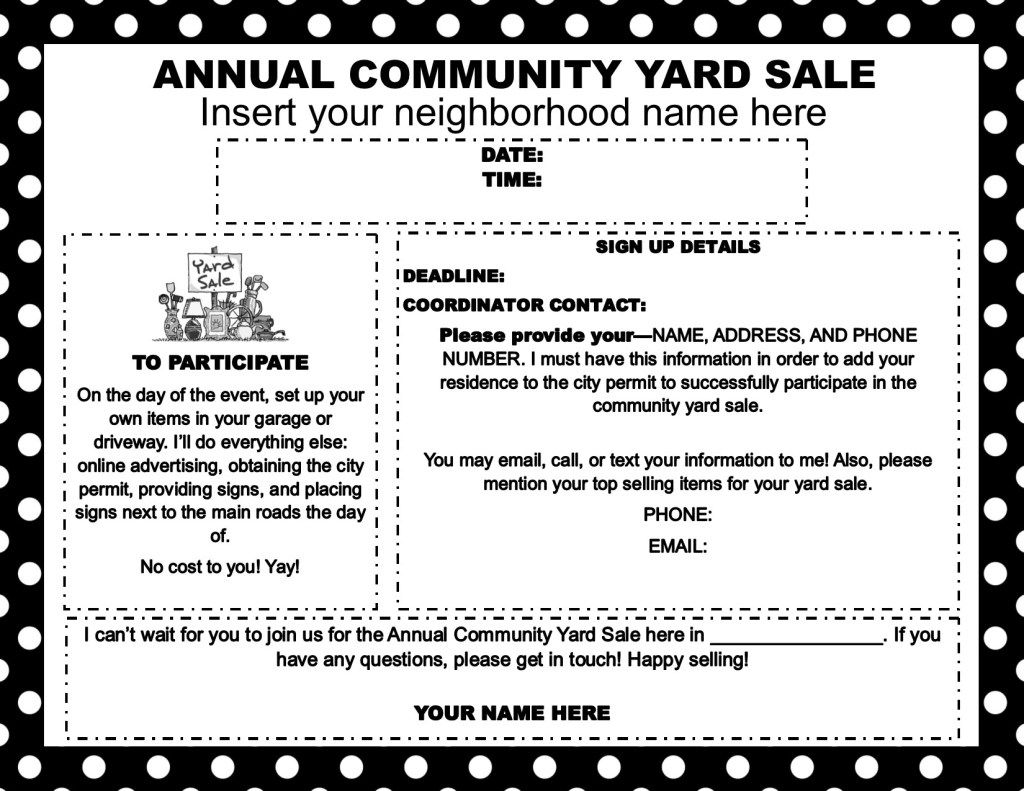 How to Host a Successful Community Yard Sale Community