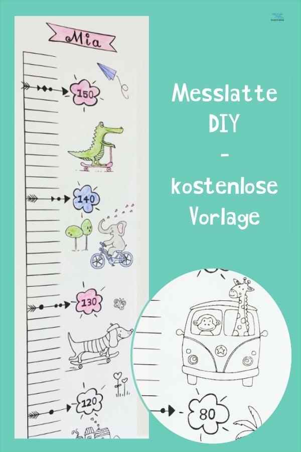 DIY Messlatte für Kinder aus Papier