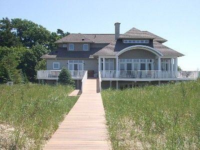 Large Beach House On Lake Michigan