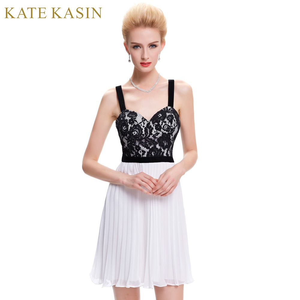Click to buy ucuc kate kasin lace short prom dresses spaghetti