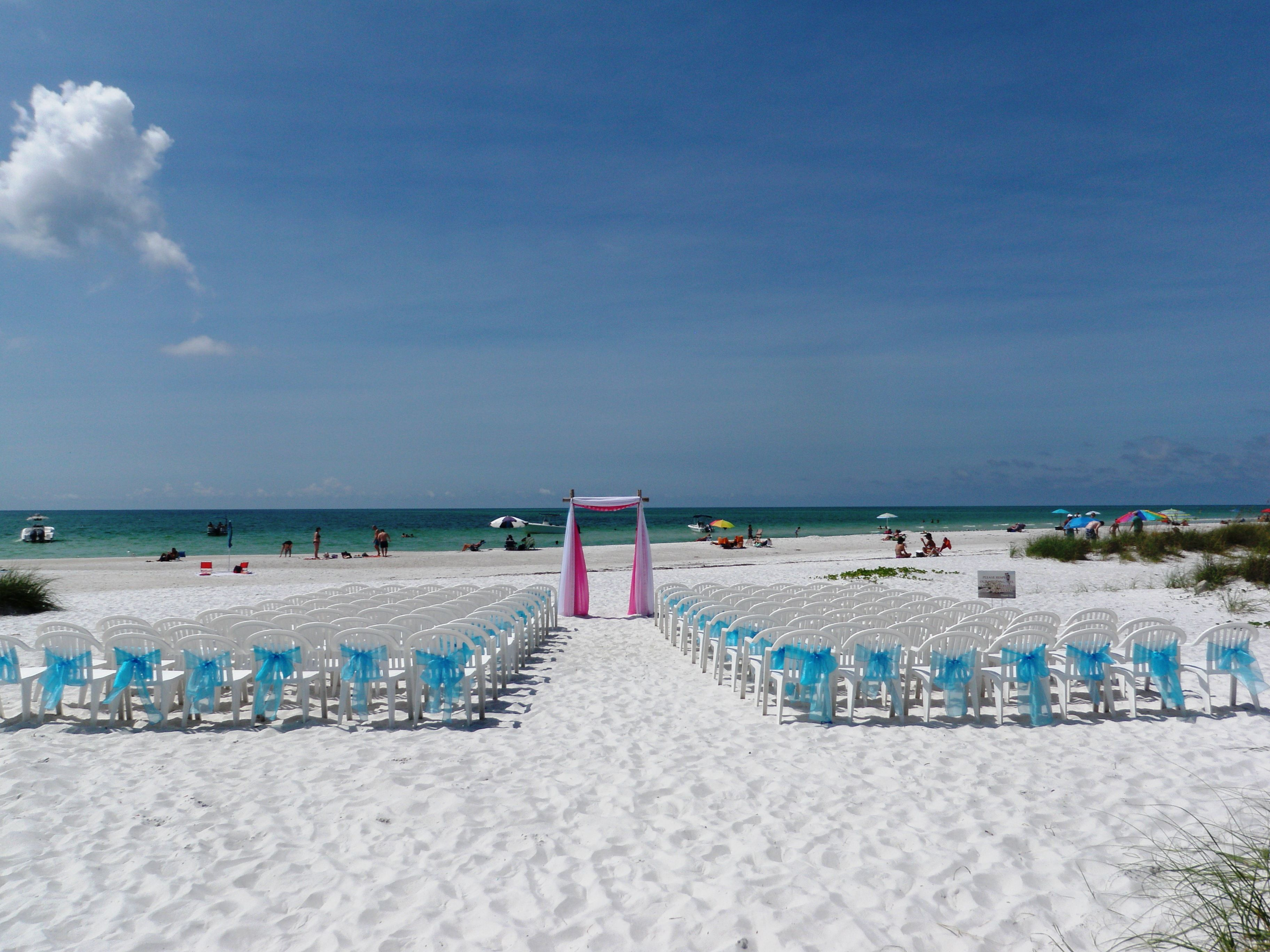 Beautiful Setting A Sandbar Wedding Anna Maria Island Florida