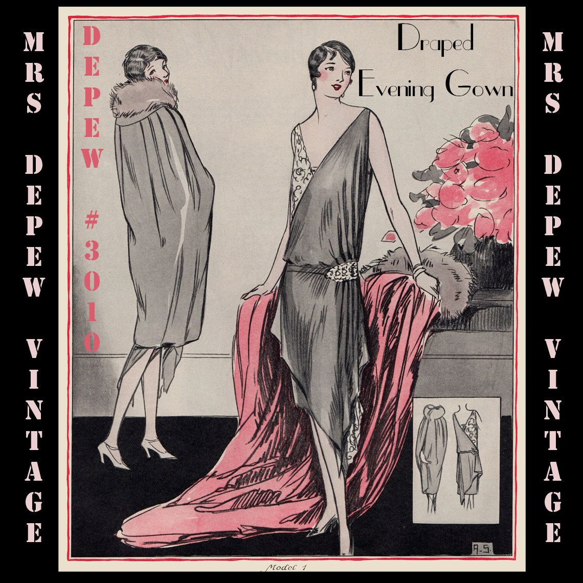 Vintage Sewing Pattern Instructions 1920s Flapper Easy ...