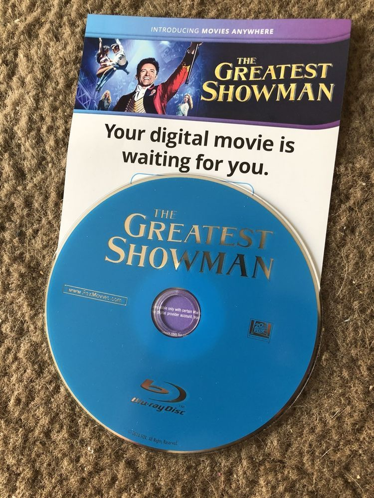 The Greatest Showman Blu Ray Disc And Digital Copy Brand New And Unused Ebay The Greatest Showman Digital Greatful