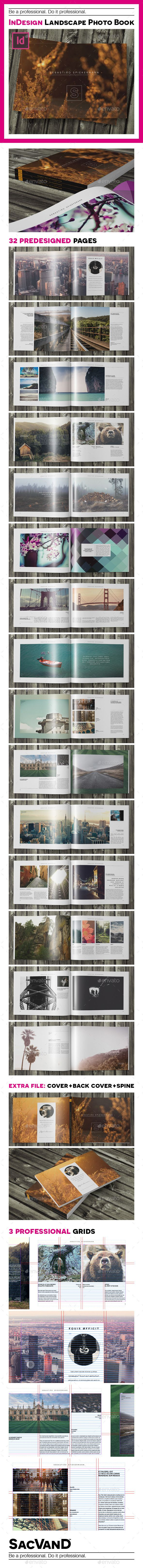Indesign landscape photo book template | Photo album printing, Print ...