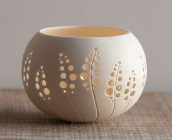 candle holder punched openings