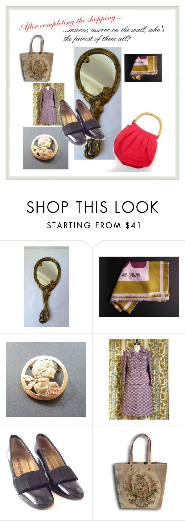 """Mirror, mirror..."" by l-u-c-i-l-e ❤ liked on Polyvore featuring Guerlain and vintage"