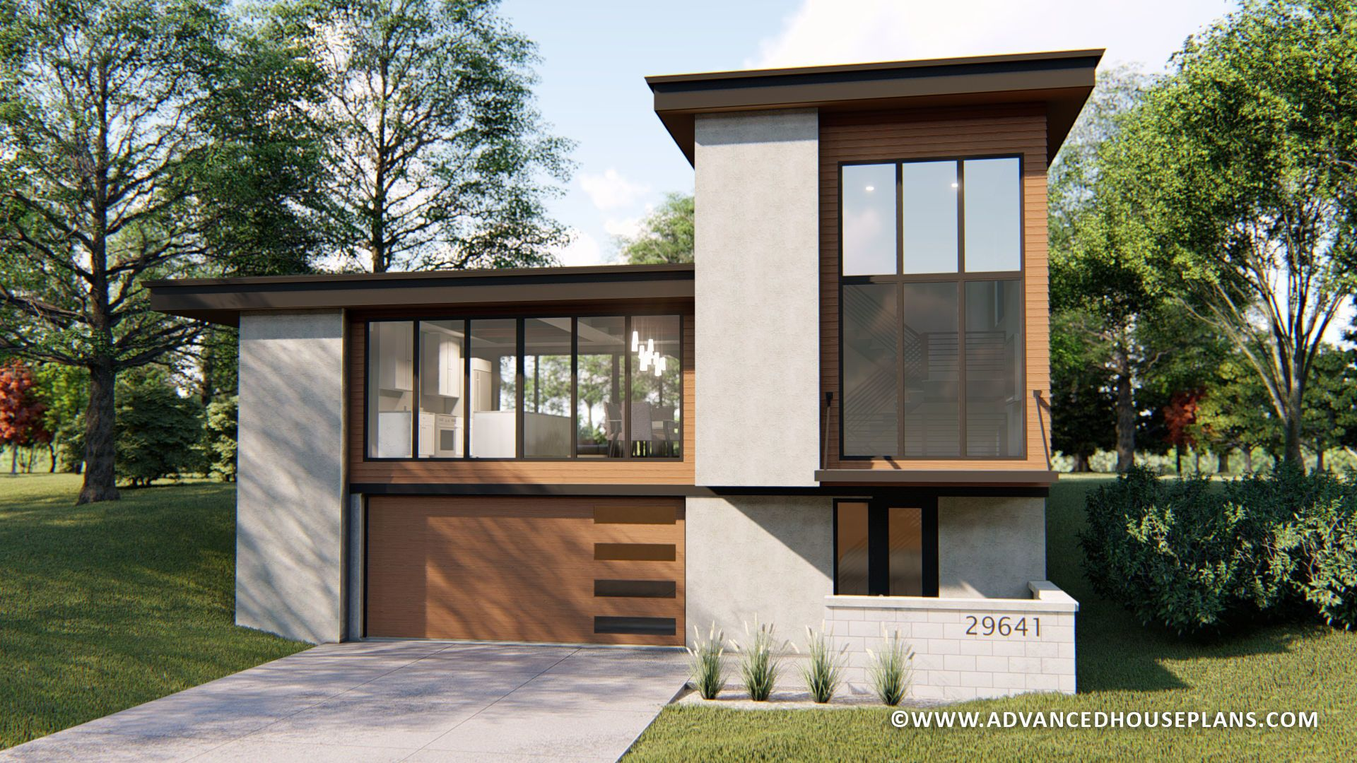 1 5 Story Modern House Plan Aubrey Courtyard House Plans Contemporary House Plans Modern House Plan