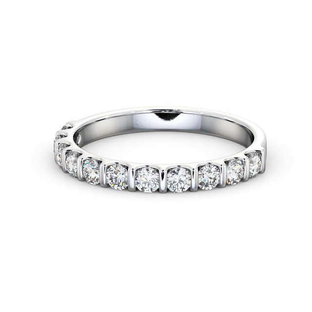 Bar Setting Lgi Certificate Round Diamond Half Eternity Wedding Engagement Ring Diamonds And