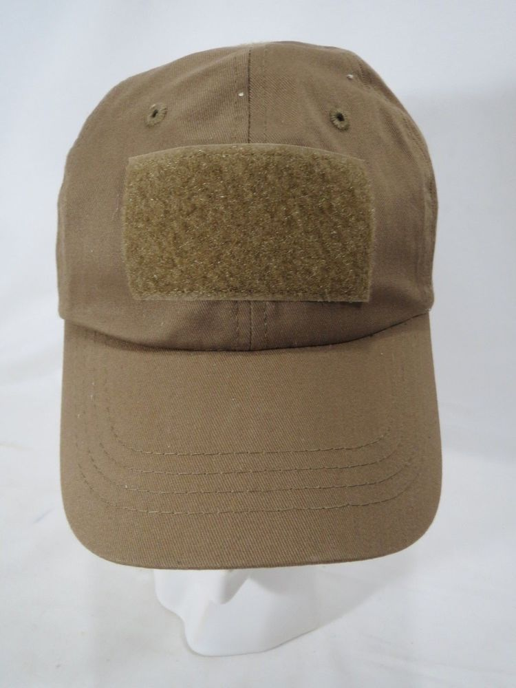 Coyote Brown Military Low Profile Adjustable Tactical Hat
