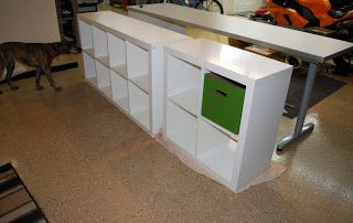 boys room idea from C a y l a w r a l: Teen workstation IKEA hack from start to finish
