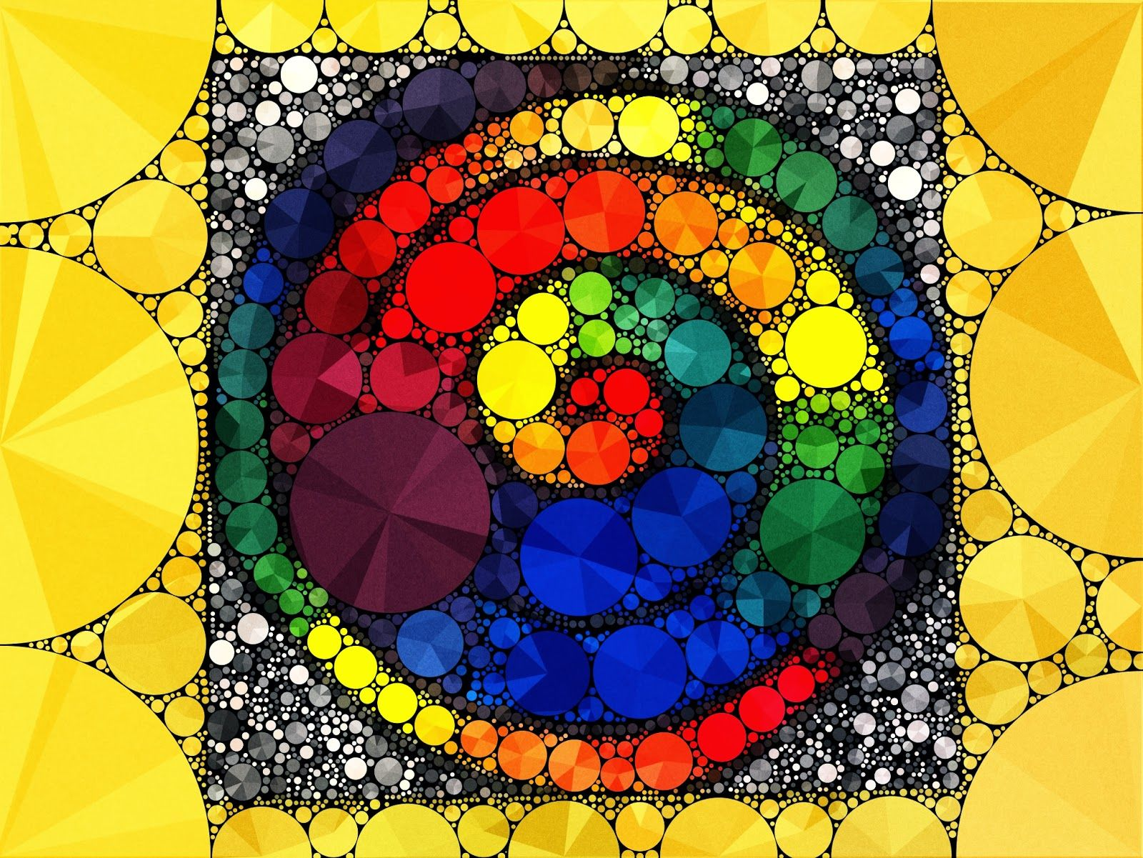 """Fun way to do the color wheel using paint and an app called """"Percolator"""""""