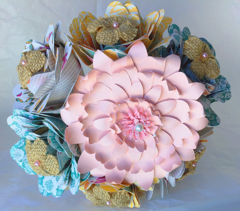 Paper Flower Bouquet weddings/ dance recital/ anniversary - pink ...
