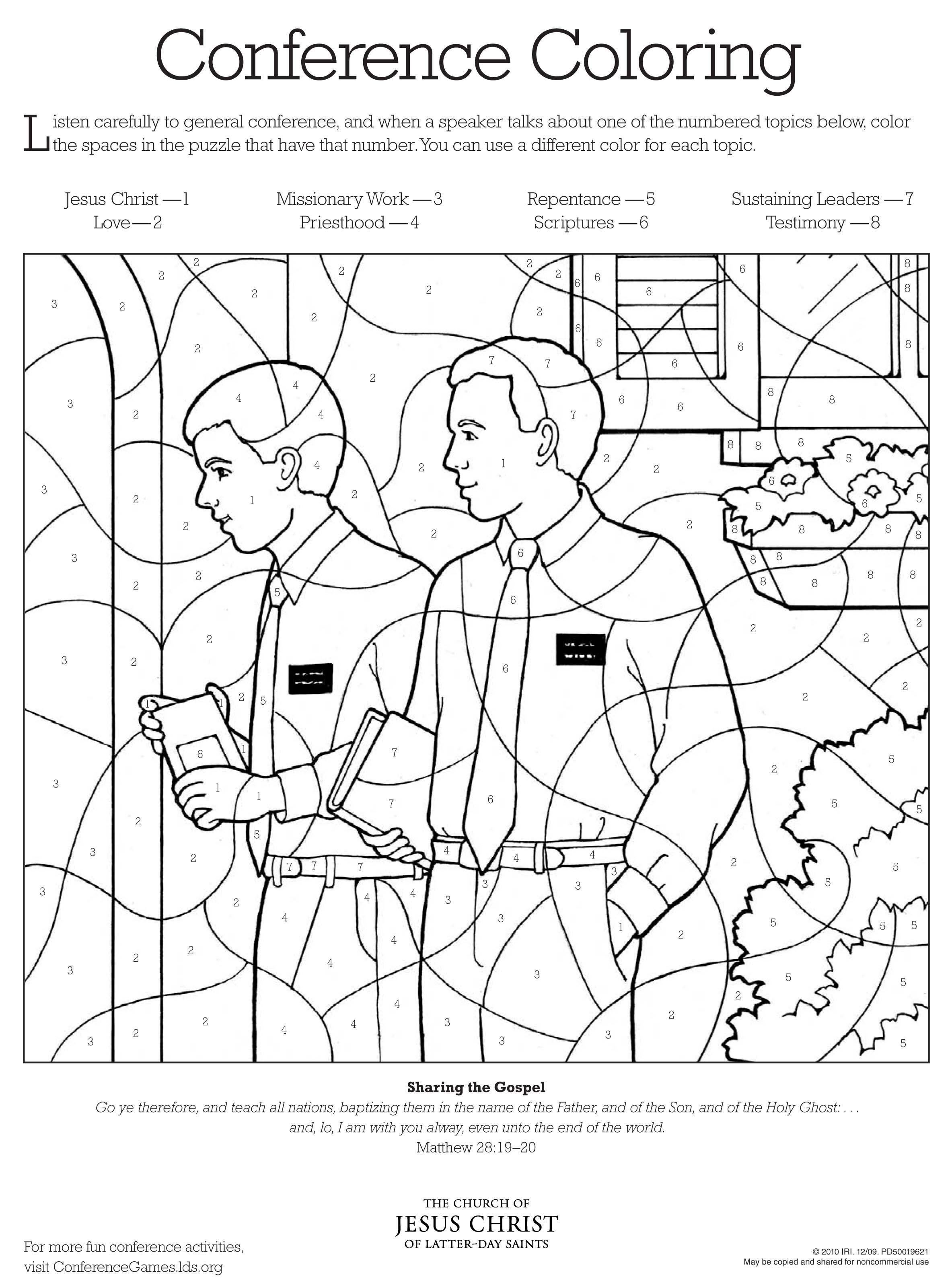 Conference Coloring page 3 | Church | Pinterest | LDS y Primaria sud