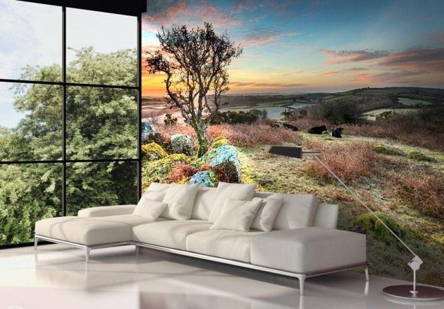 Marvelous Wanddeko Ideen Fototapeten Natur Bild neutral