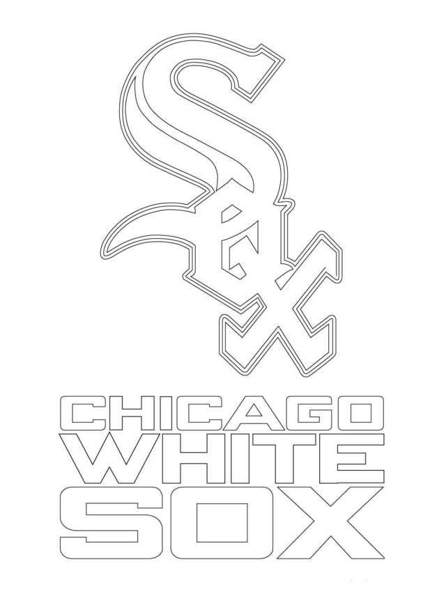 Major League Baseball Mlb Coloring Pages Sports Coloring Pages White Sox Logo Kids Printable Coloring Pages